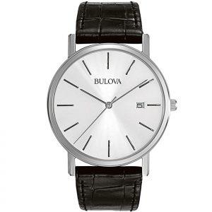 Bulova Classic Black Leather 98E118